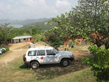 Nissan Patrol Ambulance at Lake Bosomtwe Methodist Clinic, purchased through Project 611 of The Mission Society, by the gifts of friends to be a valuable resource of mercy for the area.
